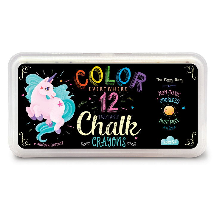Color Everywhere Chalk Crayons in Unicorn Fantasy Design