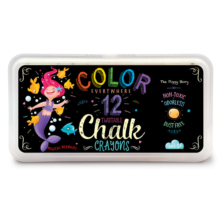 Color Everywhere Chalk Crayons Magical Mermaids