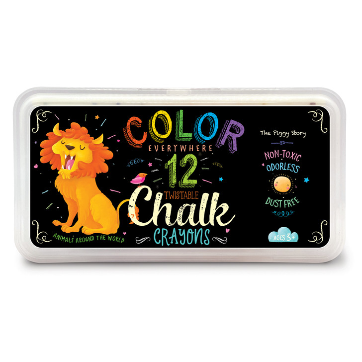 Color Everywhere Chalk Crayons Animals Around the World