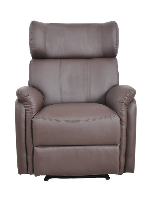 Bonded Leather Recliner Armchair Sofa Lounge Home Chair Brown