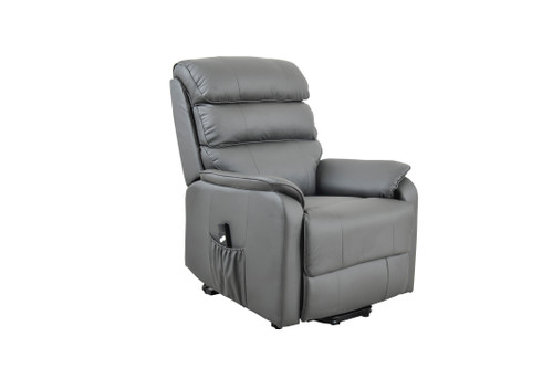 electric rise and recline leather chair
