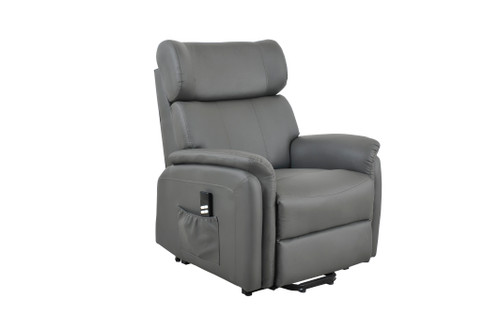 Twin Motor Rise and Recline Chair Grey