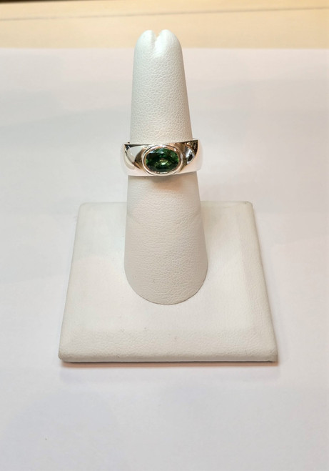 Green Topaz Ring (Wide Ring )