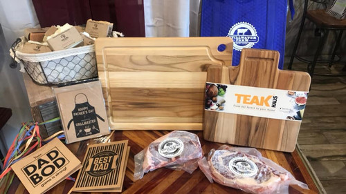 """Teakhaus 12"""" x 10.5"""" Cutting Board with Handle"""