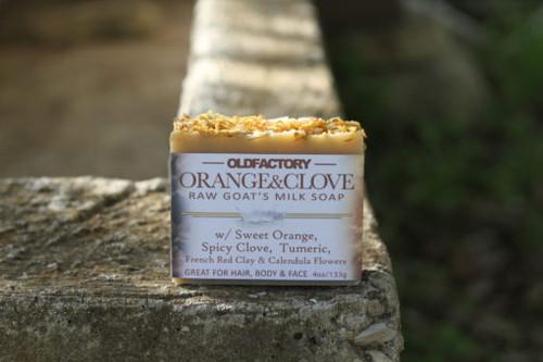 Orange & Clove Goats Milk Soap