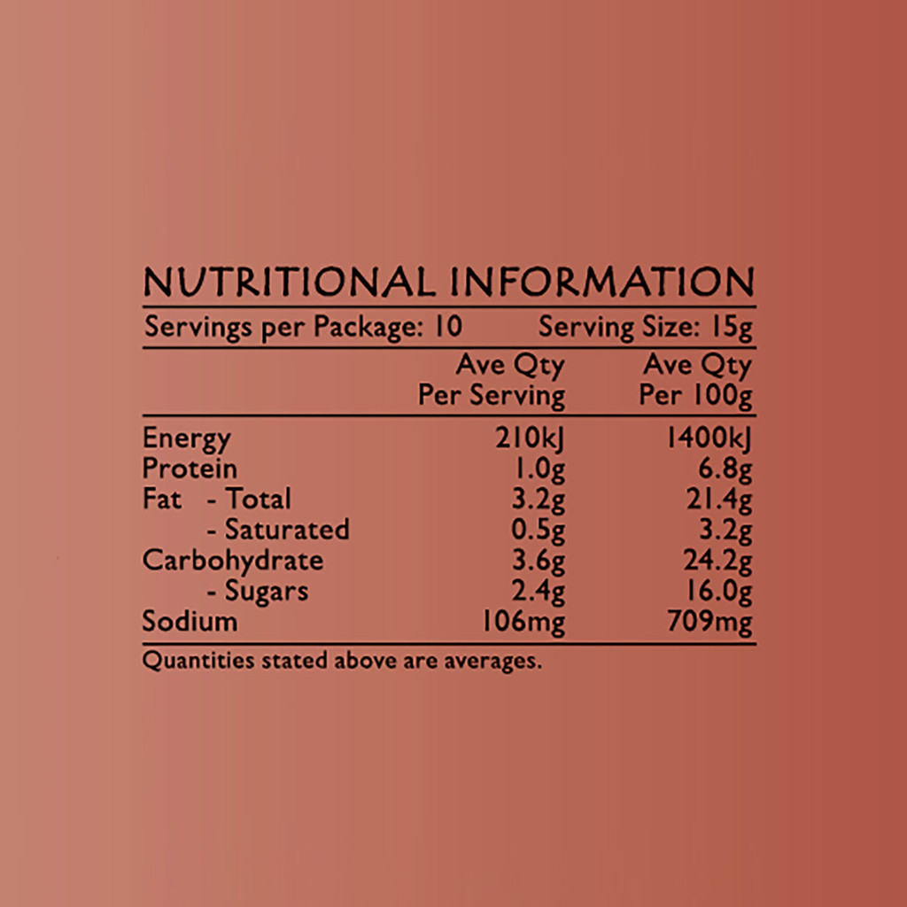 Life's Good Curry Pastes - Nutritional Information - Chilli Hero Sambal