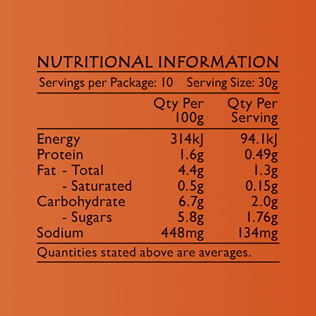 Life's Good Curry Pastes - Nutritional Information - Tomato & Onion Relish
