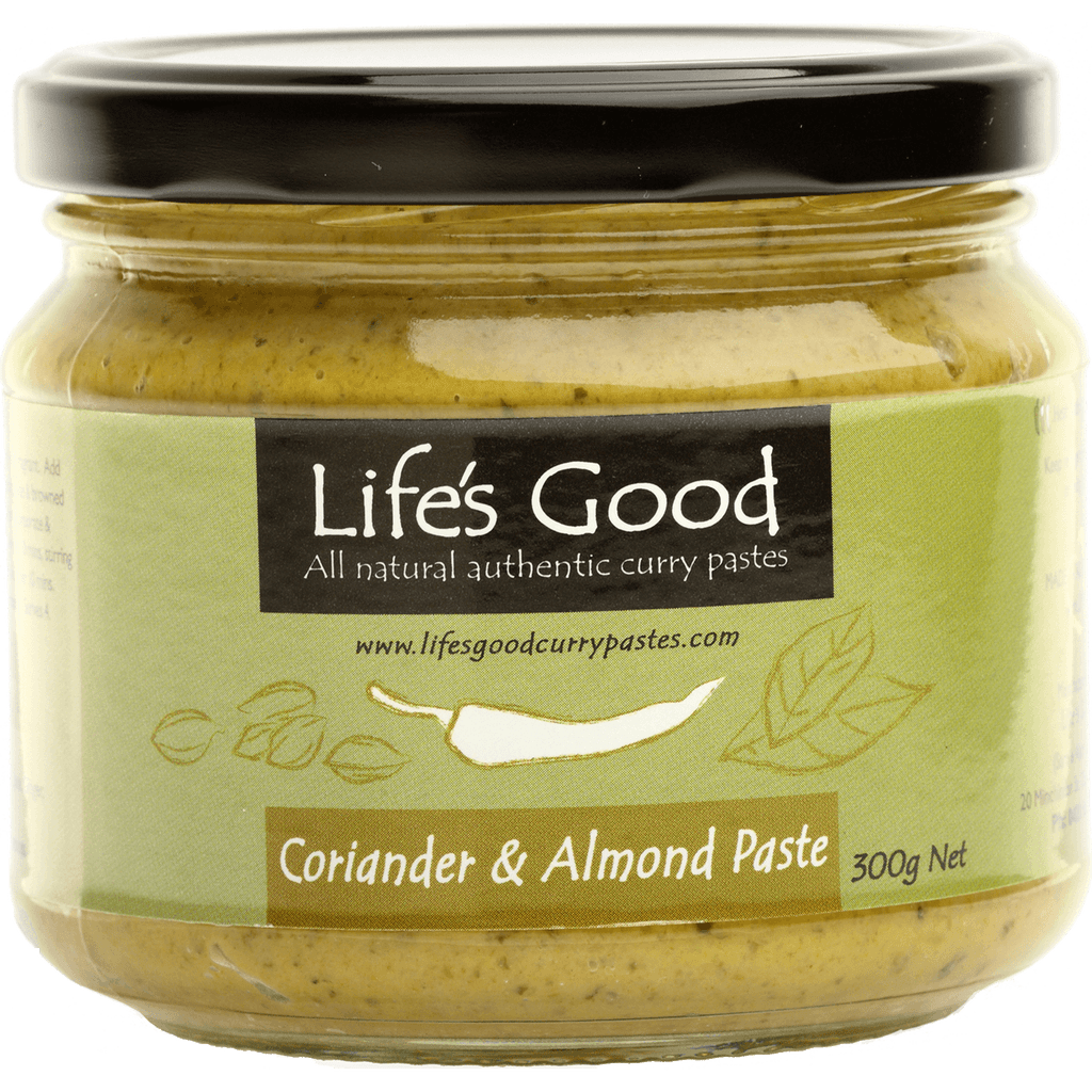 Life's Good Curry Pastes - Product Jar - Coriander & Almond Paste
