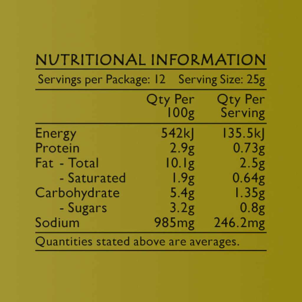 Life's Good Curry Pastes - Nutritional Information - Green Curry Paste