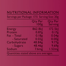 Life's Good Curry Pastes - Nutritional Information - Sam's Chilli Jam