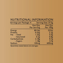 Life's Good Curry Pastes - Nutritional Information - Tom Yum Paste