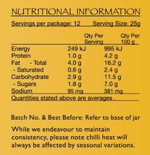 Plant Based Laksa Paste Nutritional Panel
