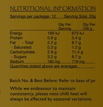 Plant Based Massaman Paste Nutritional Panel