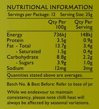 Plant Based Coriander & Almond Paste Nutritional Panel