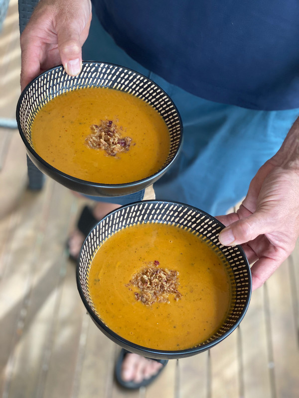 Recipe Video - Pumpkin & Sweet Potato Red Curry Soup