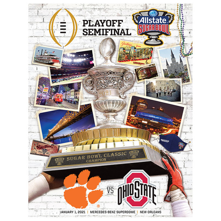 Allstate Sugar Bowl CFP Semifinal Playoff Official Game Program