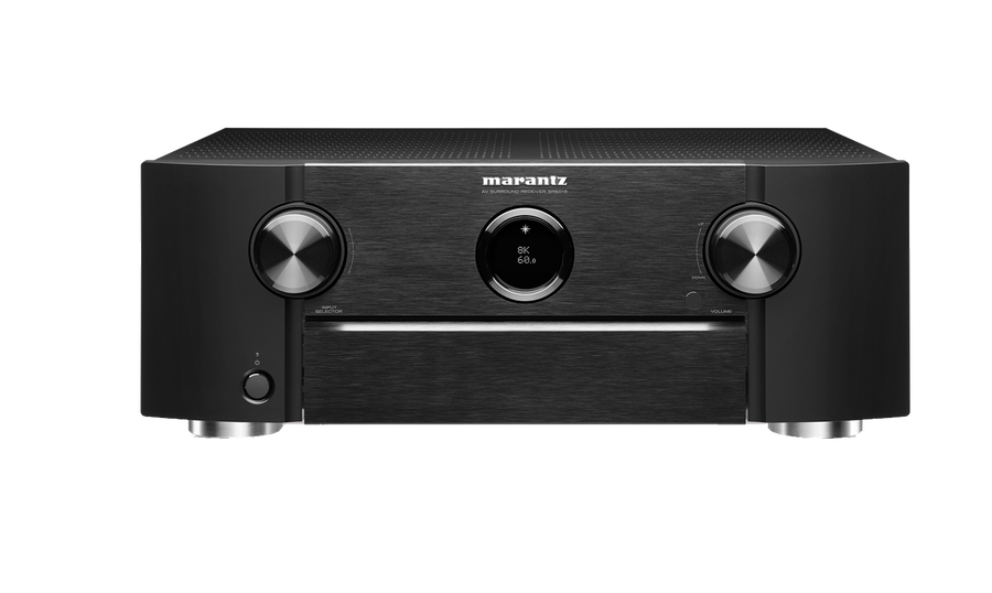 Marantz SR6015 9.2 CHANNEL 8K AV RECEIVER WITH HEOS® BUILT-IN AND VOICE CONTROL front view