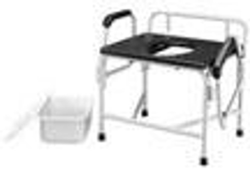 "36"" Bariatric Drop Arm Commode, 1000 lb Weight Capacity"