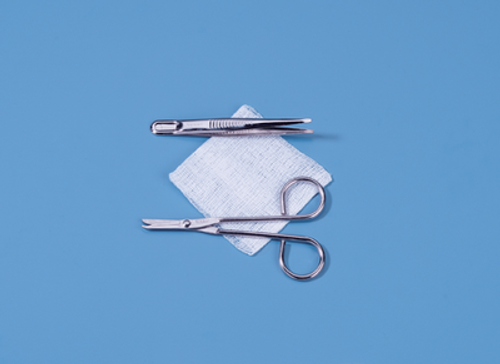 Suture Removal Kit with Littauer Scissors and Metal Forceps