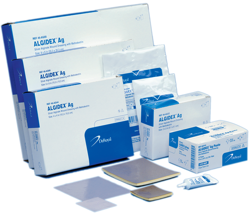 "Algidex Ag® Silver Alginate Wound Dressing, 4""x 4"" Foam Back"