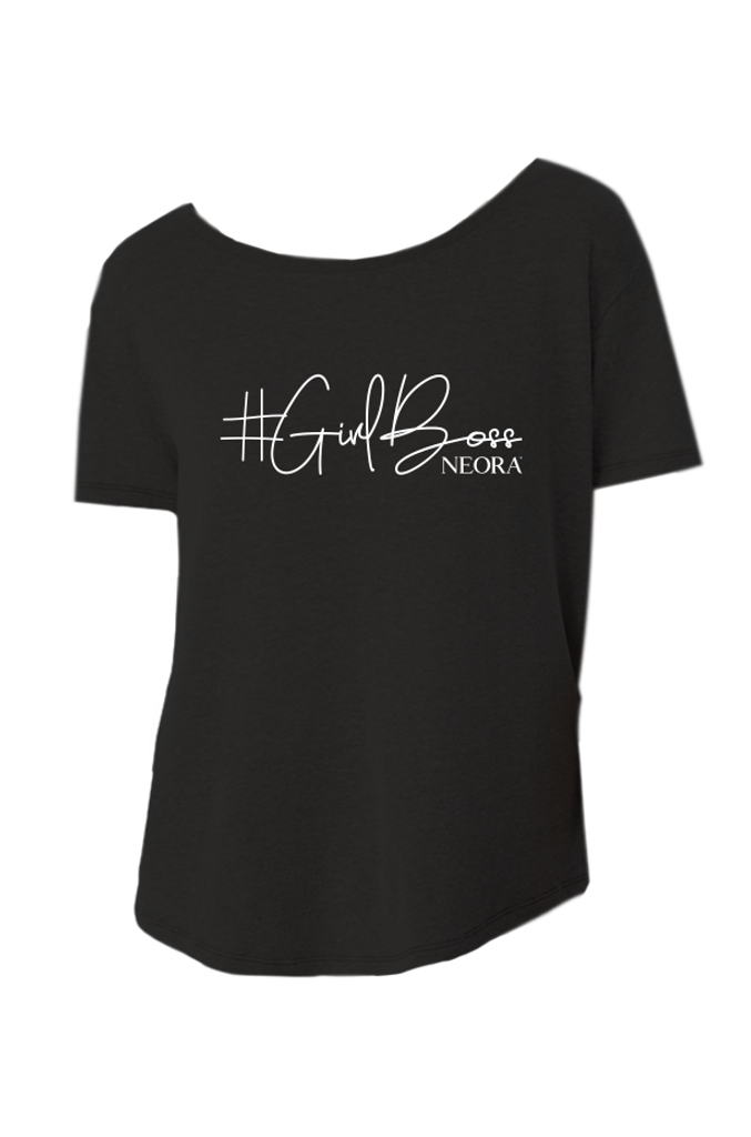 "Ladies ""#GirlBoss"" Tunic (Black)"