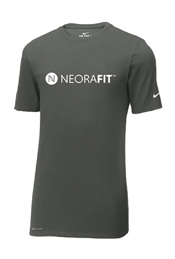 NeoraFit™ Men's Short Sleeve Dri-Fit Nike® Shirt (Gray)