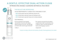 Double-Cleansing Botanical Face Wash Handout Card