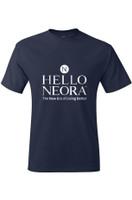 """Unisex """"Hello Neora"""" Tee (Navy Blue)"""