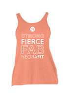 NeoraFit™ Women's Flowy Yoga Tank Top (Coral)