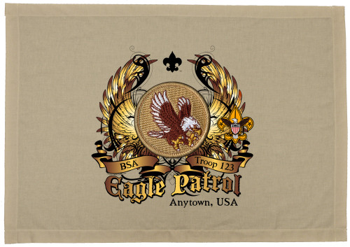 Custom Eagle Patrol Patch Flag with Colored Wings (SP5765)