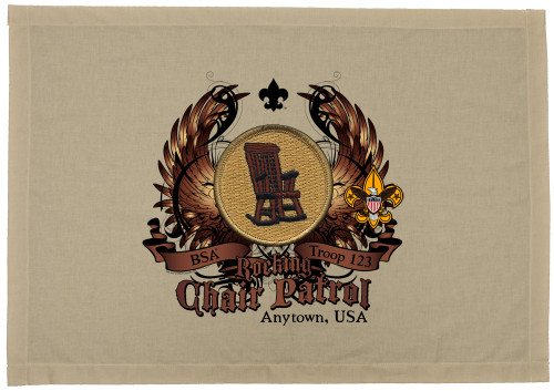 Scouts BSA Patrol Patch Flag with Rocking Chair Patrol Patch