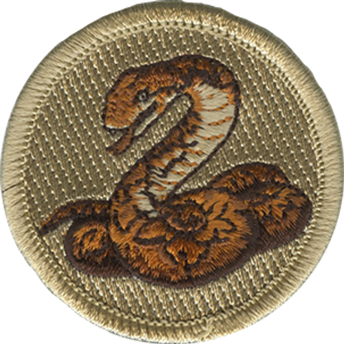 Anaconda Scout Patrol Patch - embroidered 2 inch round