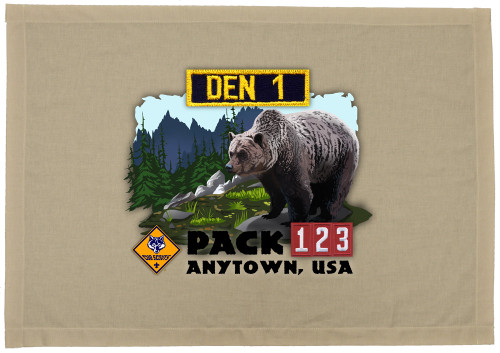 Cub Scout Pack Den Flag with Bear