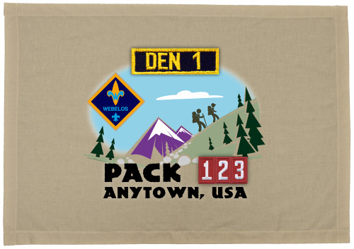 Cub Scout Pack Den Flag with Webelos