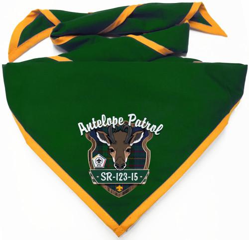 Wood Badge Neckerchief with Wood Badge Antelope with Wood Badge Logo