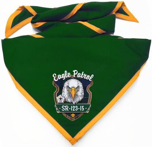 Wood Badge Neckerchief with Wood Badge Eagle And Wood Badge Logo