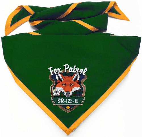 Wood Badge Neckerchief with Wood Badge Fox And Wood Badge Logo