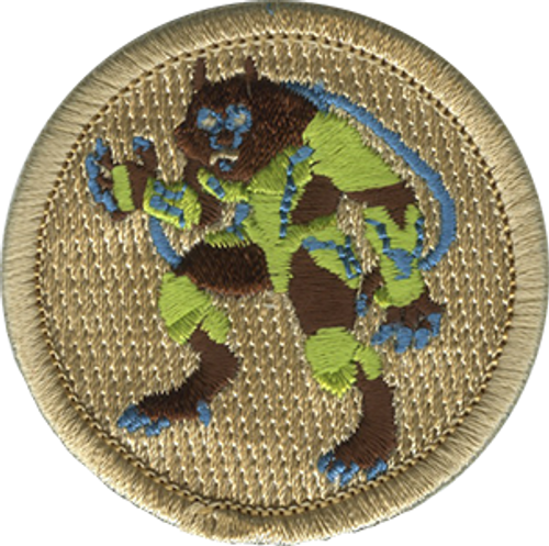 Cyber Werewolf Scout Patrol Patch - embroidered 2 inch round
