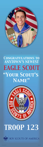 Custom Eagle Scout Banner with Photo (SP6115)