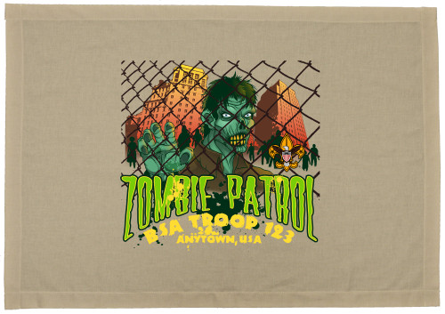 Scouts BSA Patrol Flag with Zombie Patrol Design
