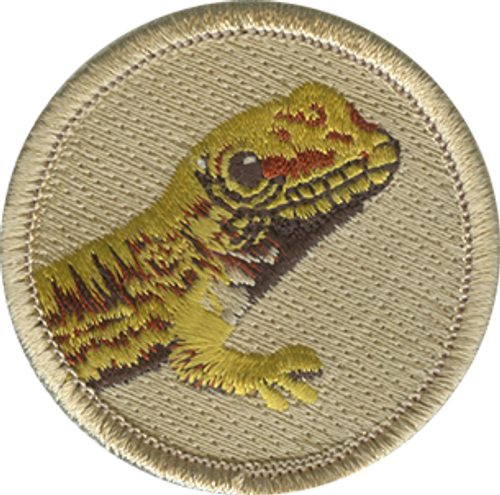 Lizard Scout Patrol Patch - embroidered 2 inch round