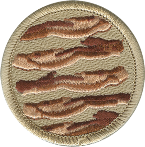 Bacon Scout Patrol Patch - embroidered 2 inch round