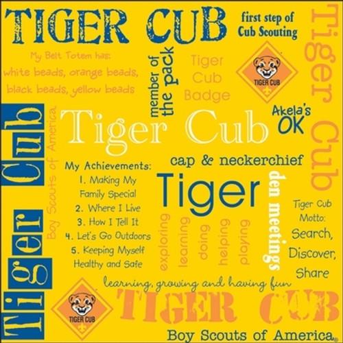 Cub Scout Pack Tiger Cub Rank Scrapbooking Paper