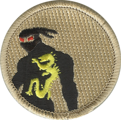 Red Eyed Ninja Scout Patrol Patch - embroidered 2 inch round