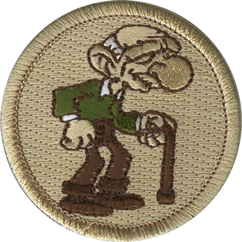Old Man Scout Patrol Patch - embroidered 2 inch round
