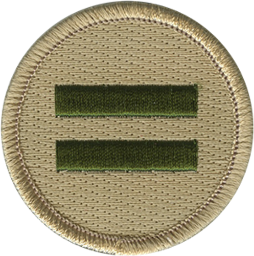 Double Green Bar Scout Patrol Patch - embroidered 2 inch round