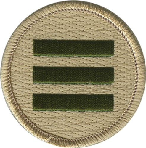 Triple Green Bar Scout Patrol Patch - embroidered 2 inch round