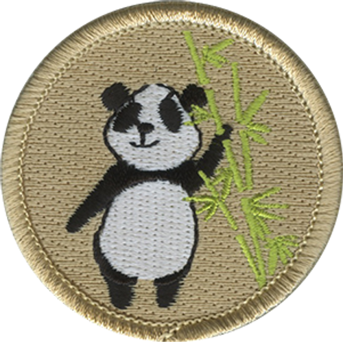 Panda Scout Patrol Patch - embroidered 2 inch round