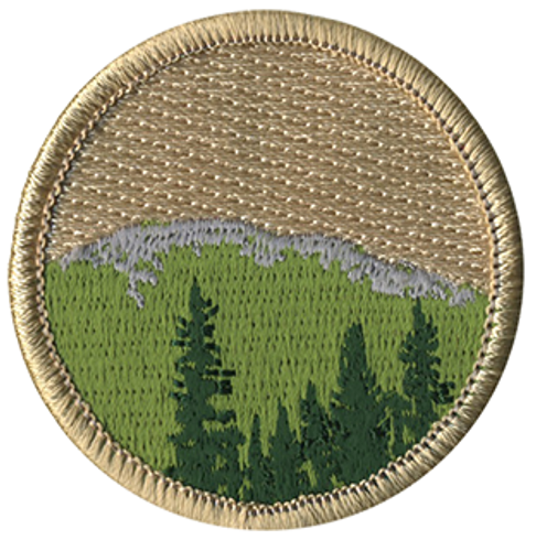 Baldy Mountain Scout Patrol Patch - embroidered 2 inch round