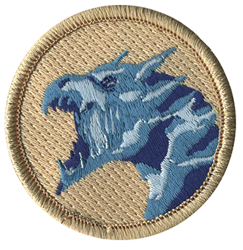 Ice Dragon Scout Patrol Patch - embroidered 2 inch round